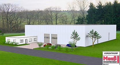 Neubau einer Lagerhalle mit Bürogebäude