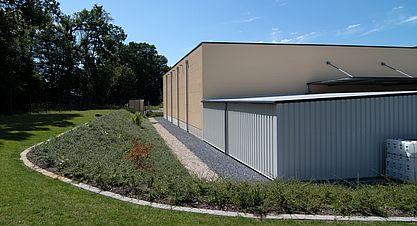 Neubau einer Lagerhalle nach Bundes-Immisionsschutzgesetz (BImSchG) - Ansicht Rückseite