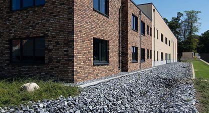 Neubau einer Lagerhalle nach Bundes-Immisionsschutzgesetz (BImSchG) - Ansicht Verwaltungsgebäude