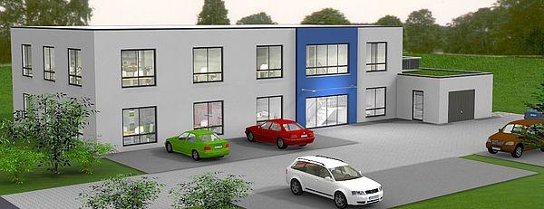 Neubau Bürogebäude in Detmold Gildepark
