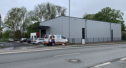 Neubau einer Lagerhalle mit Bürogebäude in Löhne