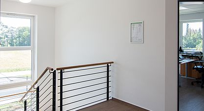 Neubau einer Lagerhalle nach Bundes-Immisionsschutzgesetz (BImSchG) - Treppenhaus Verwaltungsgebäude